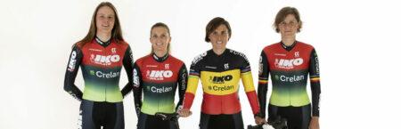 BELGIUM / BELGIE / BELGIQUE / SINT-KATELIJNE-WAVER / CYCLOCROSS 2020-2021 /  CYCLOCROSS / CX / VELDRIJDEN / PHOTO SHOOT / IKO - CRELAN / CRELAN - IKO /